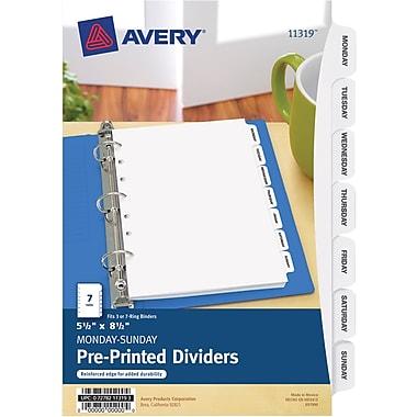 Avery® Mini Preprinted Dividers 11319, 5-1/2