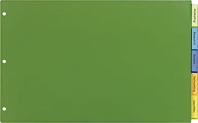 "Avery® Big-Tab™ Insertable Plastic Dividers, 5-Tab Set, Multicolor, 11"" x 17"""