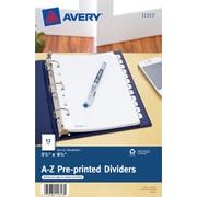 Avery® 11313 Mini Pre-printed Divider, White, A-Z