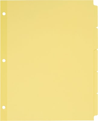 Avery® Write-On Tab Dividers with Non-Laminated Tabs (Recycled), 5-Tab, Buff