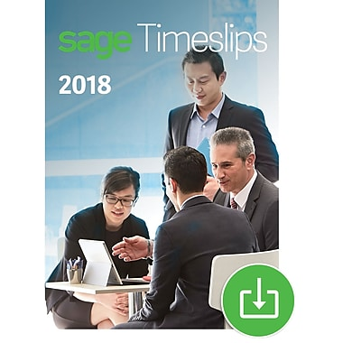 Sage Timeslips 2018 Time and Billing 5-User for Windows (1-5 Users) [Download]