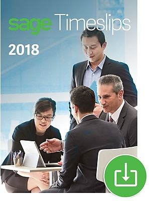 Sage Timeslips 2018 Time and Billing 4-User for Windows (1-4 Users) [Download]