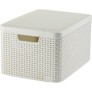 Large Style Box with Lid, Off White