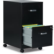 "Staples 2-Drawer Vertical Mobile File Cabinet, Letter, 18"" D"