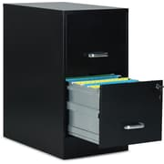 "Staples 2-Drawer Vertical File Cabinet, Letter, 22"" D"