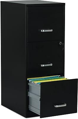 //.staples-3p.com/s7/is/  sc 1 st  Staples & Staples 3-Drawer Vertical File Cabinet Black Letter 18