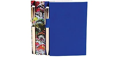 Cynthia Rowley Memo Pad with Pen, 2 Pack, Assorted, Blue, Marble (50488)