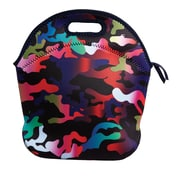 Cynthia Rowley Rainbow Camo Lunch Bag, Neoprene (61001)