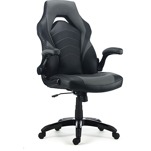 staples gaming chair black and grey staples. Black Bedroom Furniture Sets. Home Design Ideas