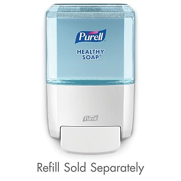 PURELL® ES4 Push-Style Soap Dispenser, White, for 1200 mL PURELL ES4 Soap Refills (5030-01)