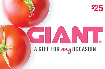Giant Food Gift Card $25