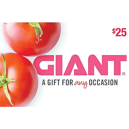 Shop Staples For Giant Food Gift Card $25