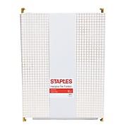 Staples Fashion Hanging File Folder, Letter Size, Gold Grid, 6/Pack (51786)