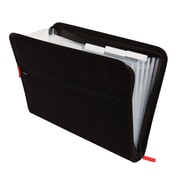 Staples 7-Pocket Expanding Zip Fabric File, Black, Letter Size(51818)