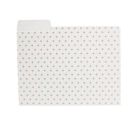 Staples® Gold Grid Poly Fashion File Folder, Letter, 9/Pack (51847)