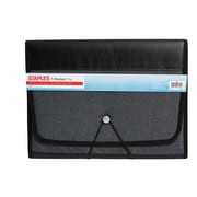 Staples® Fabric Expanding 7- Pocket File, Letter Size, Black (51821)