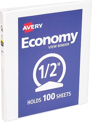 Avery Economy View Binder with 1/2