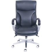 La-Z-Boy ProForm Bonded Leather Big & Tall Executive Chair, Black, Fixed Arms (49054)