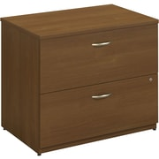 Bush Business Westfield 36W 2Dwr Lateral File, Cafe Oak, Pre-Assembled