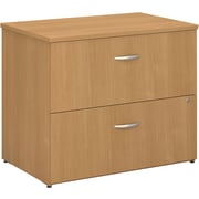 Bush Business Westfield 36W 2Dwr Lateral File, Danish Oak, Pre-Assembled
