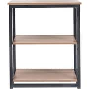 "ReadyNow Folding 2 Shelf Bookcase, Natural, 27.6""H x 23.6""W x 11.4""D"