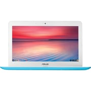 "ASUS C300SA-DH02 13.3"" Chromebook, LCD-LED, Intel Celeron, 16GB Flash, 4GB RAM, Chrome OS, Light Blue"