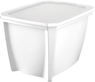 Life Story 20 Gallon Snap Lid Tote, White (T20GLWE-7)