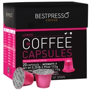 Bestpresso® Compatible Nespresso® Pods, Lungo Blend, High Intensity, 20 Capsules/Box (BEST-06LUNGO)