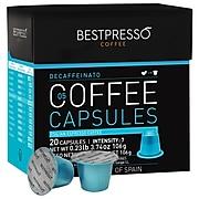 Bestpresso® Compatible Nespresso® Pods, Decaffeinatio Blend, Light Intensity, 20 Capsules per Box (BEST-05DECAF)
