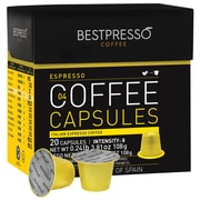 Bestpresso® Compatible Nespresso® Pods, Espresso Blend, Light Intensity, 20 Capsules per Box (BEST-04ESPR])