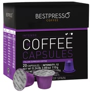 Bestpresso® Compatible Nespresso® Pods, Inteso Blend, High Intensity, 20 Capsules per Box (BESTP-02INTS)
