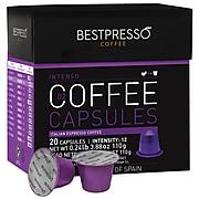 Bestpresso® Compatible Nespresso® Pods, Inteso Blend, High Intensity, 20 Capsules per Box (BESTP-02INTS)