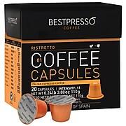 Bestpresso® Compatible Nespresso® Pods, Ristretto Blend, 20 Capsules per Box, High Intensity (BST10411)