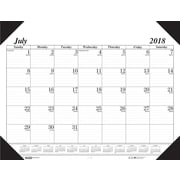 "2018-2019 House of Doolittle Academic Desk Pad Calendar, Economy Black, 22"" x 17"" (HOD-12502)"