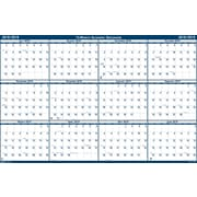 "2018-2019 House of Doolittle Erasable Reversible Academic Yearly Wall Calendar, Laminated Blue, 18"" x 24"" (HOD-3965-AY19)"