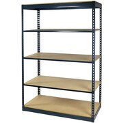 """Storage Concepts Office Shelving, Low Profile Boltless, 5 Shelves with Particle Board, 96""""H x 36""""W x 24""""D"""
