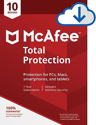 McAfee Total Protection 10 Device for Windows (1-10 Users) [Download]