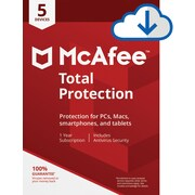 McAfee Total Protection for 5 Devices for Windows (1-5 Users), Download (4KQPKNP9RWD8ATC)