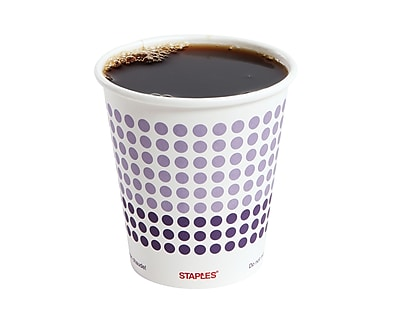 Staples Brand Paper Hot Cups, 10 Oz., 50/Pack 2758192