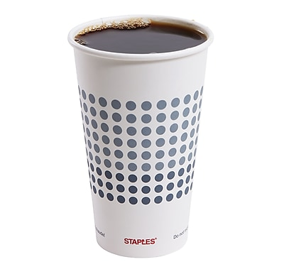 Staples Brand Paper Hot Cups, 16 Oz., 50/Pack 2758198