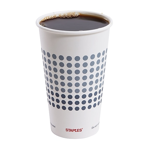 Staples Brand Paper Hot Cups, 16 Oz., 50/Pack