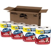 Charmin® Ultra Strong™ Toilet Paper, 2-Ply, 308 Sheets/Roll, 24 Mega Rolls/Carton (94345)