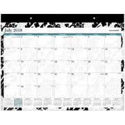 "2018-2019 AT-A-GLANCE® Academic Madrid Mini Monthly Desk Pad, 12 Months, 11"" x 8-1/2"" (SK93-706A-A8)"