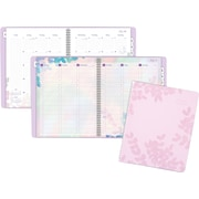 "2018-2019 AT-A-GLANCE® Academic Aura Blooms Weekly/Monthly Appointment Planner, 12 Months, Lavender, 8-1/2"" x 11"" (585-905A-19)"