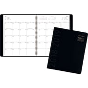 "2018-2019 AT-A-GLANCE® 8 7/8"" x 11""Contemporary Academic Monthly Planner, Black (70-074X-05-19)"
