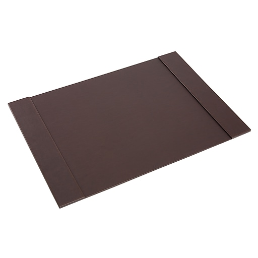 Staples® Desk Pad, Faux Leather, Brown
