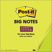 "Post-it® Super Sticky Big Notes, 22"" x 22"", Neon Green (BN22)"