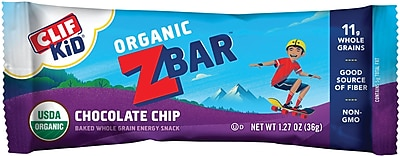 Clif Bar ZBar, Chocolate Chip, 18 Count