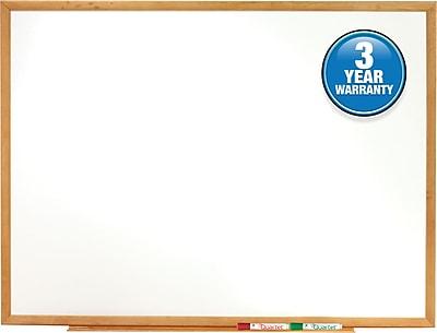 Quartet® Classic Whiteboard, Oak Finish Frame, 3'W x 2'H (S573)
