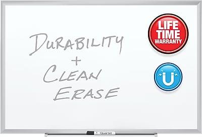 Quartet® Premium DuraMax® Porcelain Magnetic Whiteboard, Silver Aluminum Frame, 3'W x 2'H (2543)